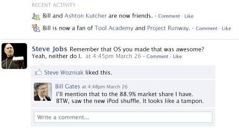 Bill Gates' Facebook page