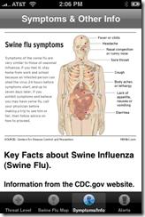 Swine Flu Tracker for iPhone