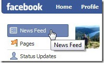 "Facebook ""News Feed"" link"