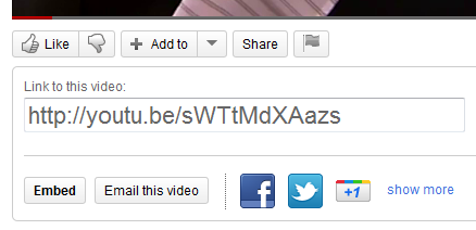 Click the Embed button