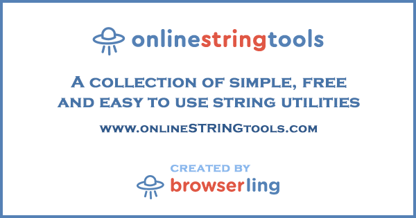 Online String Tools for Programmers