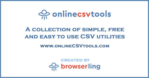 Online CSV Tools for Programmers